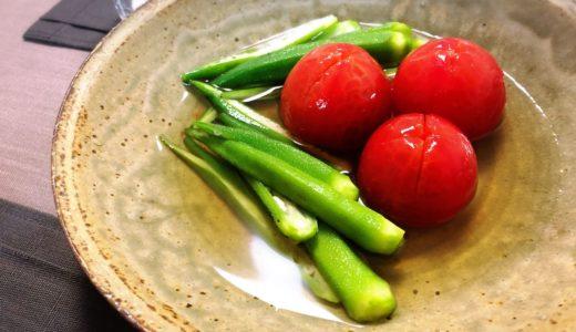 【白だしで簡単!】トマトとオクラの冷やしおでん