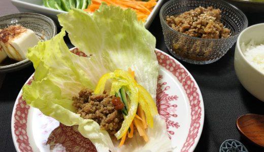 【暑い夏にピッタリ!】ピリ辛肉味噌のレタス包み